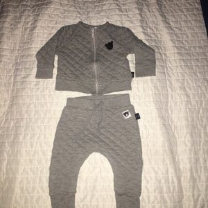 HUXBABY Grey Outfit